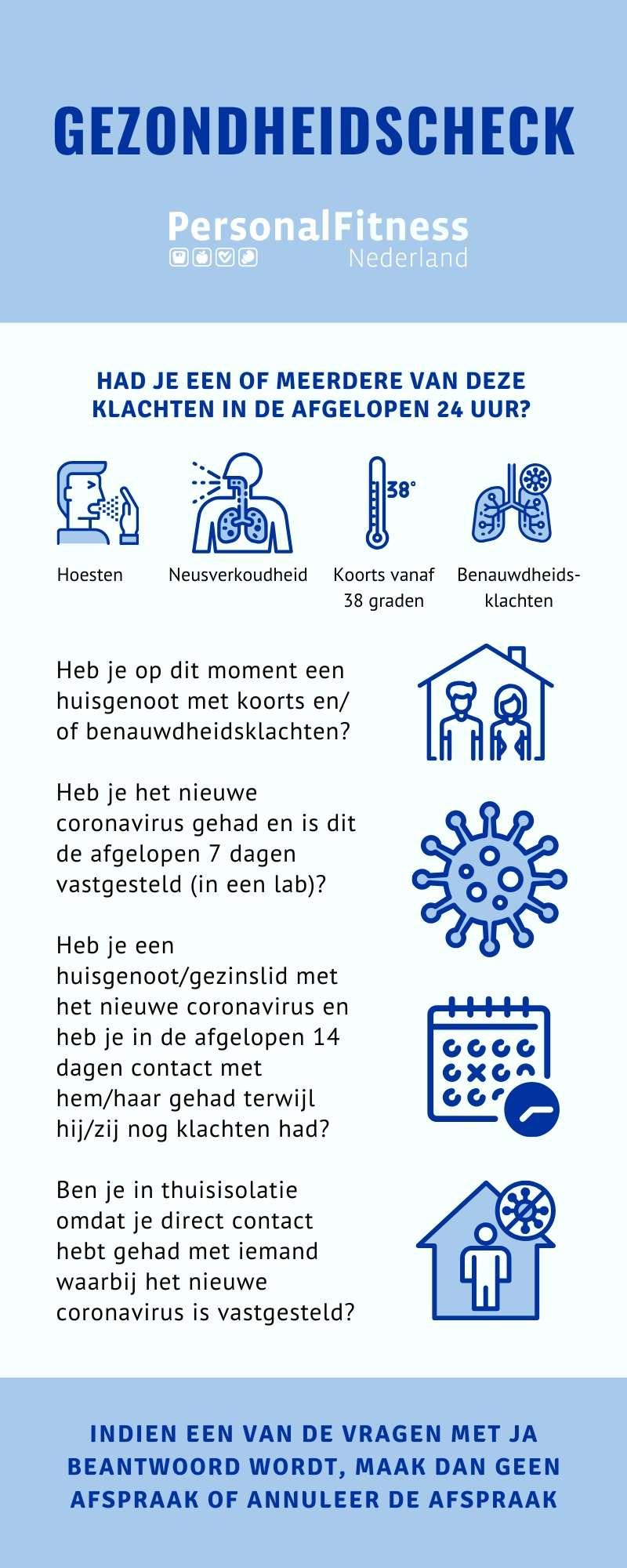 Gezondheidscheck Personal Fitness Tilburg