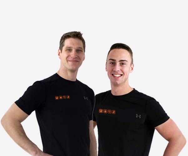 Personal trainers Chris en Jordan